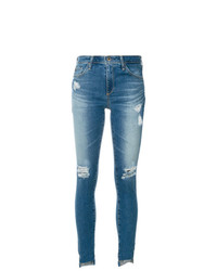 Jeans aderenti strappati blu di AG Jeans