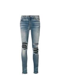 Jeans aderenti strappati blu di Amiri