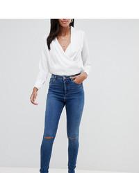 Jeans aderenti strappati blu di Asos Tall
