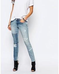 Jeans aderenti strappati blu di Blank NYC