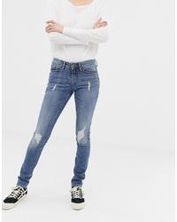 Jeans aderenti strappati blu di Blend She