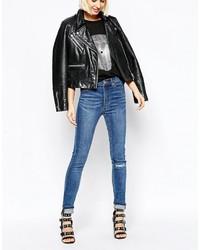 Jeans aderenti strappati blu di Cheap Monday