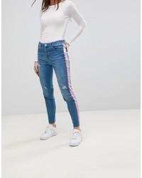 Jeans aderenti strappati blu di Chorus