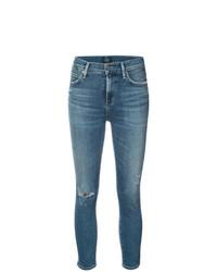 Jeans aderenti strappati blu di Citizens of Humanity