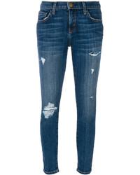 Jeans aderenti strappati blu di Current/Elliott