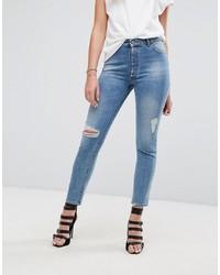 Jeans aderenti strappati blu di DL1961