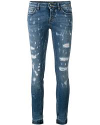 Jeans aderenti strappati blu di Dolce & Gabbana