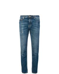 Jeans aderenti strappati blu di Golden Goose Deluxe Brand