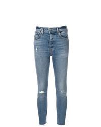 Jeans aderenti strappati blu di Grlfrnd