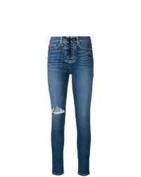 Jeans aderenti strappati blu di Hudson