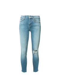 Jeans aderenti strappati blu di Mother