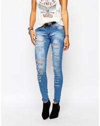 Jeans aderenti strappati blu di N.