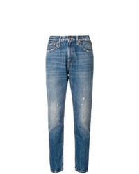 Jeans aderenti strappati blu di R13