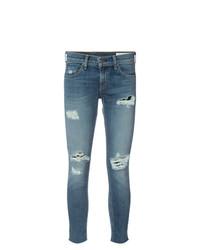 Jeans aderenti strappati blu di rag & bone/JEAN