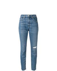 Jeans aderenti strappati blu di Rag & Bone