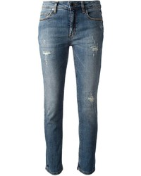Jeans aderenti strappati blu di Victoria Beckham
