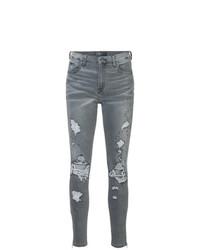Jeans aderenti strappati grigio scuro di Amiri