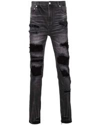 Jeans aderenti strappati grigio scuro di God's Masterful Children
