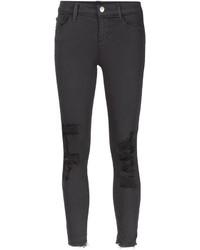 Jeans aderenti strappati grigio scuro di J Brand