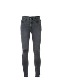 Jeans aderenti strappati grigio scuro di Nobody Denim