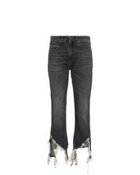 Jeans aderenti strappati grigio scuro di R13