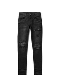 Jeans aderenti strappati neri di Amiri