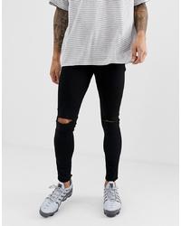 Jeans aderenti strappati neri di ASOS DESIGN