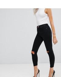 Jeans aderenti strappati neri di Asos