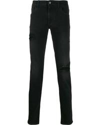 Jeans aderenti strappati neri di Dolce & Gabbana