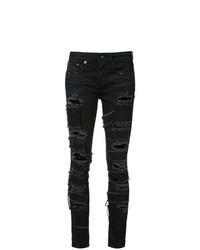 Jeans aderenti strappati neri di R13