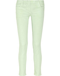 Jeans aderenti verde menta