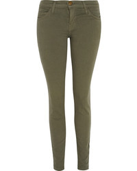 Jeans aderenti verde oliva