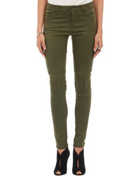 Jeans aderenti verde scuro