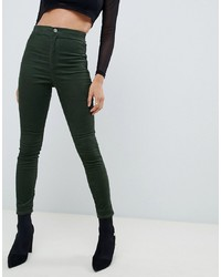 Jeans aderenti verde scuro di ASOS DESIGN
