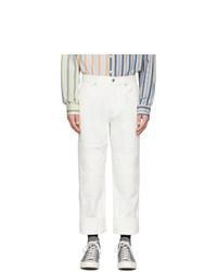 Jeans bianchi di JW Anderson