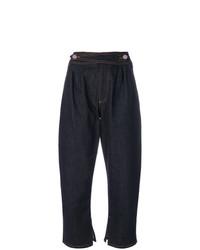 Jeans boyfriend blu scuro di Fendi