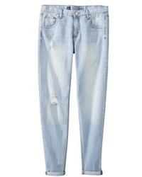 Jeans boyfriend strappati azzurri