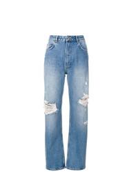 Jeans boyfriend strappati azzurri di Anine Bing