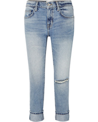 Jeans boyfriend strappati azzurri di Current/Elliott