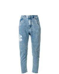 Jeans boyfriend strappati azzurri di Diesel