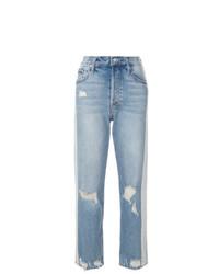 Jeans boyfriend strappati azzurri di Mother