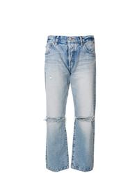 Jeans boyfriend strappati azzurri di Moussy Vintage