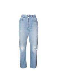 Jeans boyfriend strappati azzurri di RE/DONE