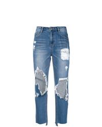 Jeans boyfriend strappati azzurri di Sjyp