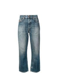 Jeans boyfriend strappati blu di Diesel