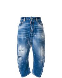 Jeans boyfriend strappati blu di Dsquared2