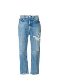 Jeans boyfriend strappati blu di Rag & Bone