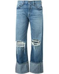 Jeans boyfriend strappati blu di Simon Miller