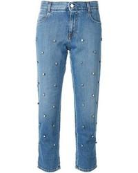 Jeans decorati blu