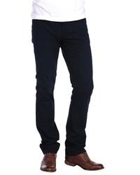 Jeans di velluto a coste blu scuro